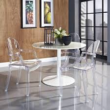 Modern Round Dining Table Sets Dining Room Modern Glass Dining Table With Arms And White Modern