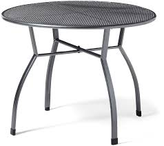 greemotion steel patio table tolouse metal bistro table for
