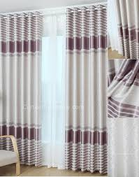 Grey And Purple Curtains Modern Chic Stripe Polyester Grey Purple Thermal Curtains