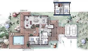 plan maison moderne 5 chambres maison ossature bois à étage 184 m 5 chambres plans maison