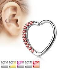 heart cartilage cartilage tragus conch daith jewelry beauty jewelry
