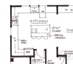 Island Shaped Kitchen Layout by Dining Room Kitchen Layout With Island L Shaped Kitchen Layouts