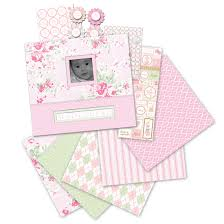 baby girl scrapbook album k and company house collection 12 x 12 boxed scrapbook