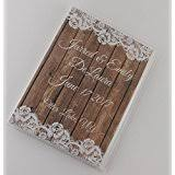 rustic wedding album country rustic photo albums home décor handmade