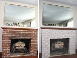 fireplace makeover painting the firebox and mantel best
