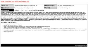 Senior Net Developer Resume Sample by Senior Net Developer Resumes U0026 Cover Letters