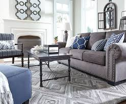 Living Rooms With Gray Sofas The Gorgeously Luxe Look Of The Navasota Sofa Living Room