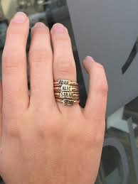 rings that say say it on a ring gold custom jewelry heidijhale