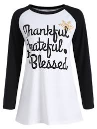 thanksgiving raglan sleeve letter print white xl in