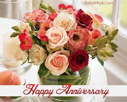 anniversary happy wedding flower card wishes sms 873964 top