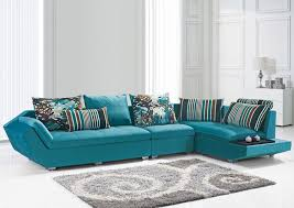 Teal Table L Furniture Marvelous L Shape Blue Modern Sofa Plus Stripes