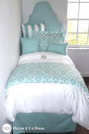 blue dorm room bedding