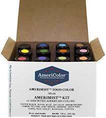 amazon com americolor amerimist airbrush food color kit 12 color