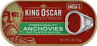 King Oscar Sardines Mediterranean Style - amazon com king oscar anchovies flat 2 oz can pack of 4