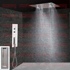 Rubber Shower Attachment For Bath Taps Bathroom Concealed Shower Panel Wall Mounted Thermostatic