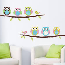 brand new removable cartoon animals baby child decals cute birds