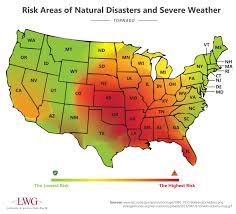 Florida Tornado Map by Risk Areas Of Natural Disasters And Severe Weather