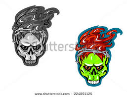 skull barbed wire tattoo design vector stock vector 224891125