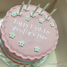 amazing happy birthday candle special pink cake candles for friend birthday with name