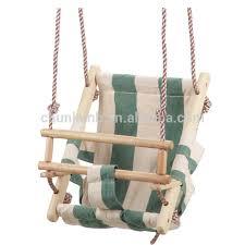 siège balançoire bébé bois bébé siège de balançoire swing de toile pliage balançoire pour