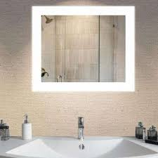 White Bathroom Vanity Mirror Bathroom Mirrors Bath The Home Depot
