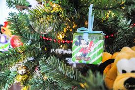 disney tree decorations upright and caffeinated