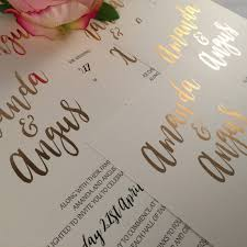 gold foil wedding invitations real gold foil wedding invitation suite dolkens invitations