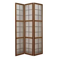 Panel Room Divider Moroccan 6 Ft Brown 3 Panel Room Divider Sg 190 The Home Depot