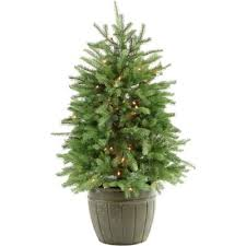 potted christmas tree buy pre lit potted christmas trees from bed bath beyond