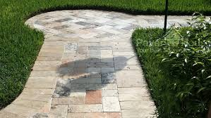 Paver Patios Installed In The Travertine Paver Installation Travertine Pavers Installers