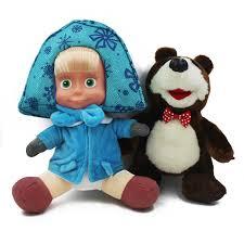 shop masha bear doll plush stuffed toys cartoon russian