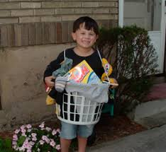 Clean Halloween Costumes Laundry Basket Empty Clean Detergent Container Carry