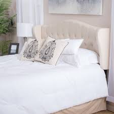 Headboard For Adjustable Bed Alford Adjustable Beige Fabric Headboard By Christopher Knight