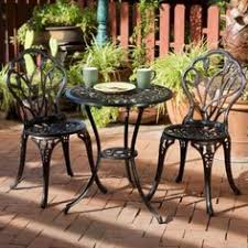 outdoor bistro table and chairs this french style outdoor bistro set will lend classy style to your