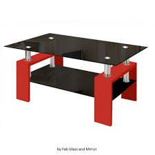 Contemporary Living Room Tables by Coffee Tables Splendid Modern Glass Red Coffee Table With Shelf
