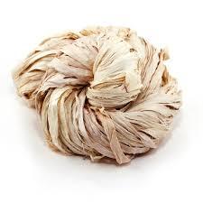 sari silk ribbon sari silk ribbon 43 yard per 100g vintage ivory darn yarn