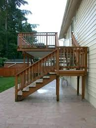 Deck Stairs Design Ideas Deck Stairs With Landing Building Deck Stairs Landing Salmaun Me