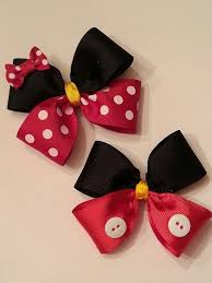 mickey mouse hair bow mickey mouse and minnie mouse hair bows by thefrogboutique on etsy