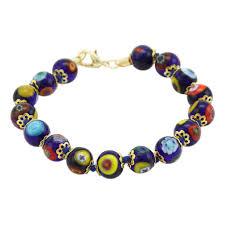 bracelet murano images Murano bracelets murano mosaic bracelet navy blue jpg