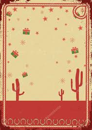 cowboy christmas card with frame for text on vintage poster