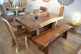 Unfinished Kitchen Table And Chairs Chunky Wood Furniture Gallerium Painted Unfinished Wood Dining