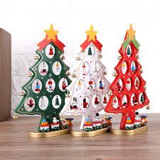 Christmas Tree Ornament Display Diy Wooden Cartoon Christmas Tree Decorations Ornaments Home