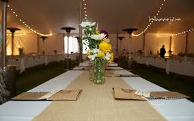 burlap wedding table center pieces trees n trends gustitosmios
