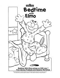 elmo bedtime coloring page sesame street coloring pages