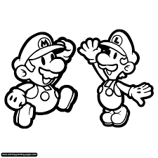 super mario bros luigi coloring pages many interesting cliparts