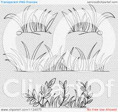 grass clipart black and white outline clipground