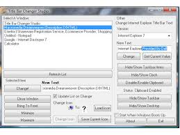 Windows 7 Top Bar Paulmarv Software Title Bar Changer Studio