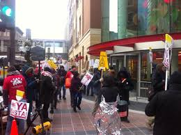 target in black friday cleaning workers walk out in black friday protest wcco cbs