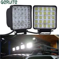 2pcs wholesale 12 24v 75w square shape cool white led work lights