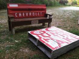 Bench Made From Tailgate Diary Of A Crohnie